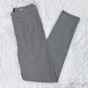 Urban Outfitters Black White High Rise Ankle Pants